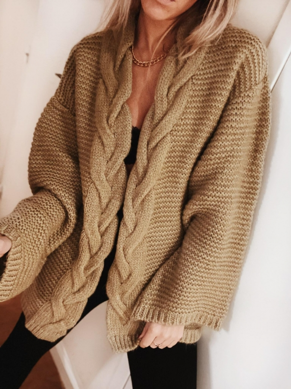 Gilet Cable camel